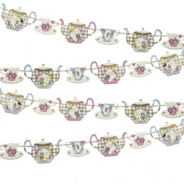 Alice in Wonderland Teapot Bunting - 4 meters